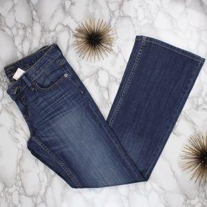 Banana Republic Faded Bootcut Button Pockets Jean